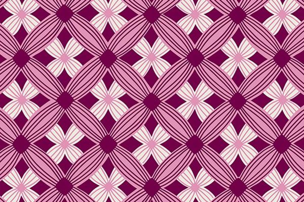 Ruby Star Society Tarrytown by Kimberly Kight Tuffted Geometric purple velvet