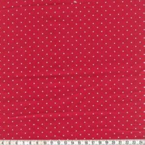 Baumwollpopeline Hilde Punkte rot
