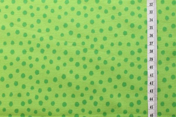 Westfalenstoffe Interlockjersey Junge Linie Punkte grün