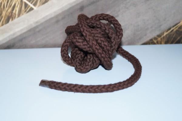 Baumwollkordel 8 mm dunkelbraun