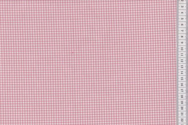 Westfalenstoffe Oxford Vichykaro rose-weiß
