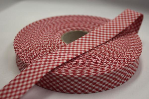 Schrägband Westfalenstoffe rot/weiß