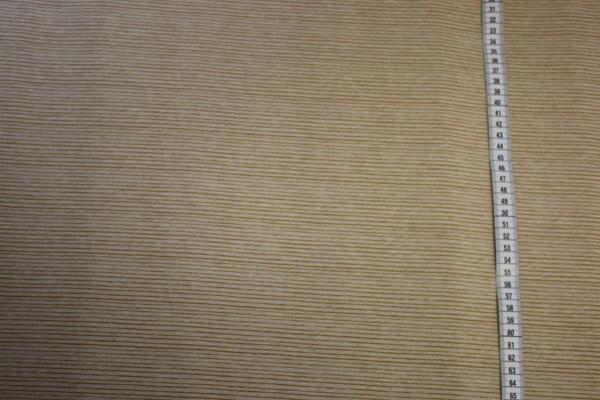 Lillestoff Jersey Mini Streifen senf meliert