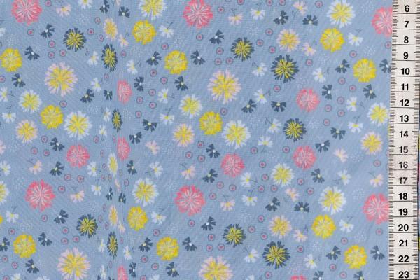 Baumwolldruck Blumen