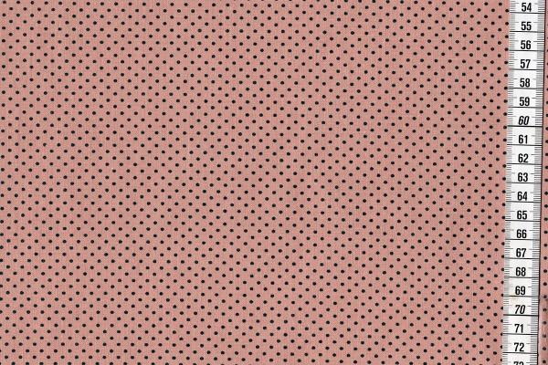 Dekostoff Dots Powder Rose/Petrol