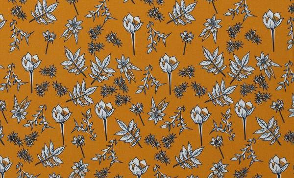 Viskose Blush by brinarina Blumen senfgelb