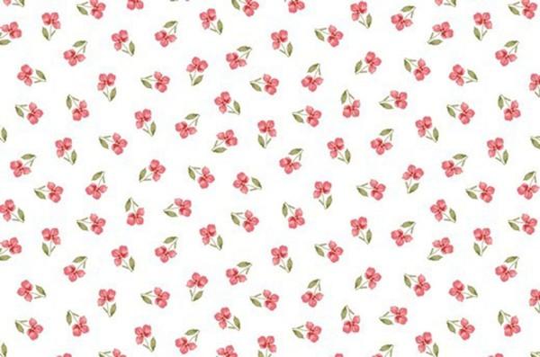Baumwolldruck Blüte am Stiel
