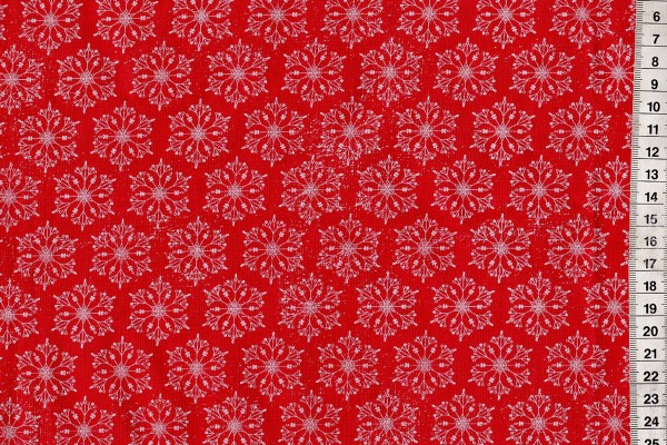 Tim Holtz Eclectic Yuletide Snowflakes red
