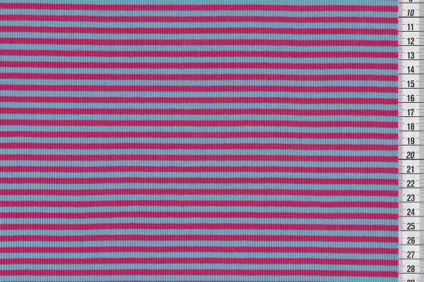 Ringelbündchen pink/hellblau