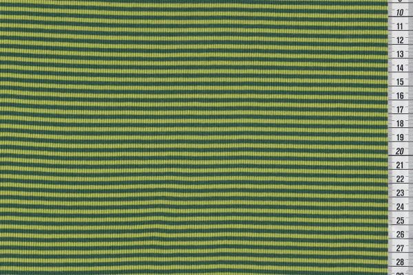 Ringelbündchen dunkelgrün/kiwi