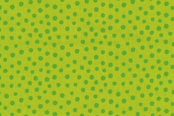 Westfalenstoff Junge Linie Punkte groß grün/grün