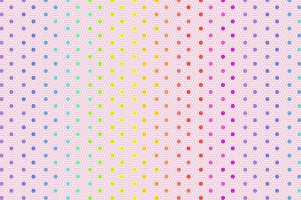 Tula Pink True Colors Hexy Rainbow Shell