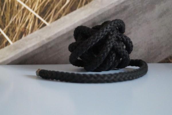 Baumwollkordel 8 mm schwarz