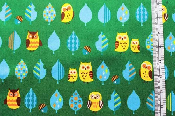 COSMO Eulen owls grün
