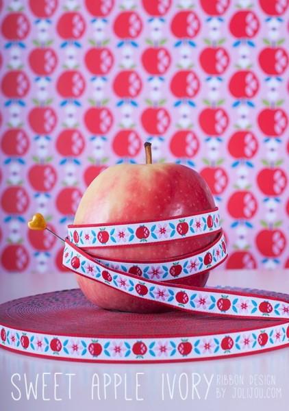 Sweet Apple Webband, ivory