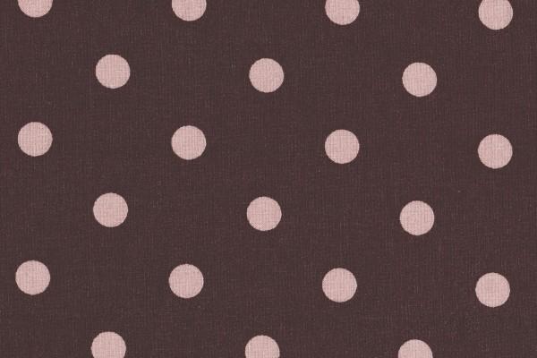 Dekostoff Dots Big Grape/Misty Rose