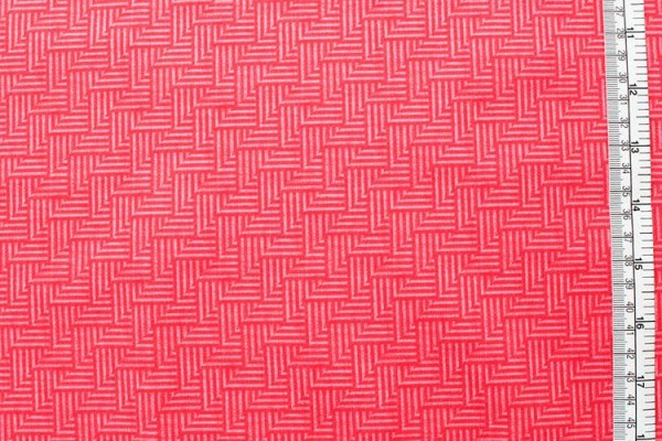 JUST MY TYPE crosshatch red