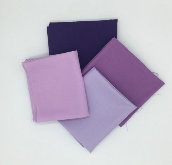 Fat Quarter Set Kona Cotton Solids purple