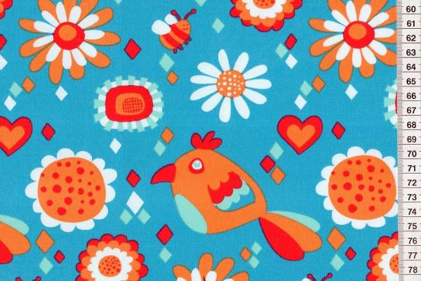 Lillestoff Jersey Vogel/Blume by Nicebiene