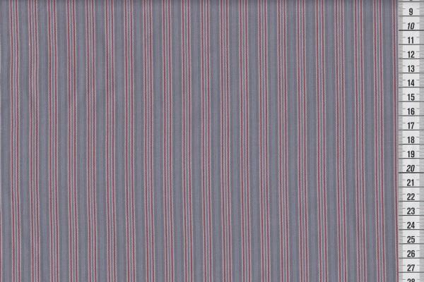 Westfalenstoffe Bergen Streifen grau/rot