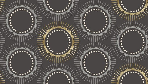 Kibori Tara charcoal metallic