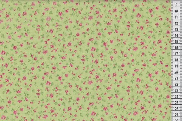 Westfalenstoff Wales Druck Streublümchen grün
