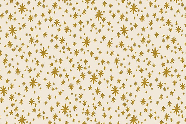 Cotton and Steel Rifle Paper Holiday Classics Starry Night Cream Metallic