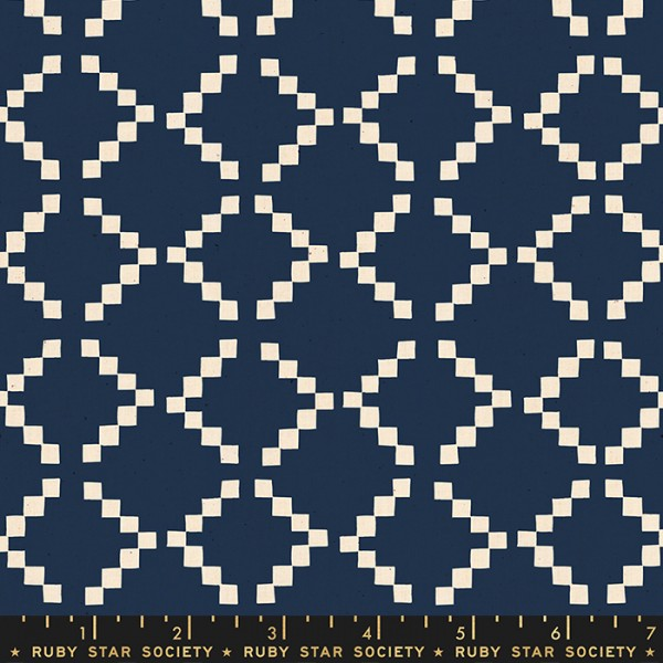 Ruby Star Society Golden Hour by Alexia Abegg Tile Navy