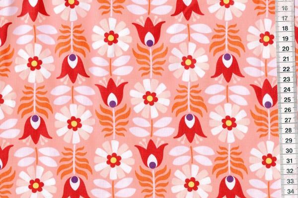 Midsommar by Pippa Shaw Retro tulip coral