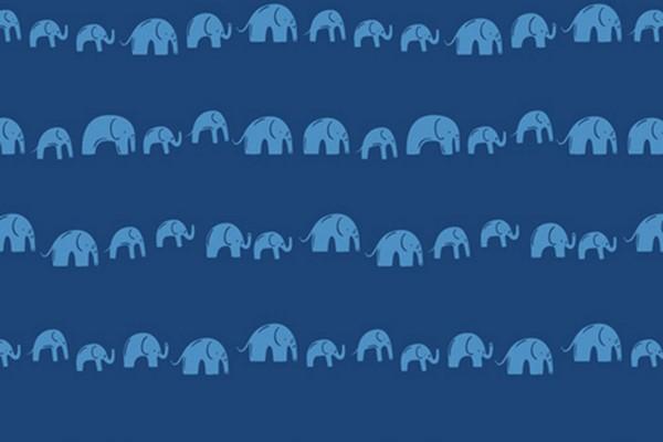 Selva Elefantenparade dunkelblau