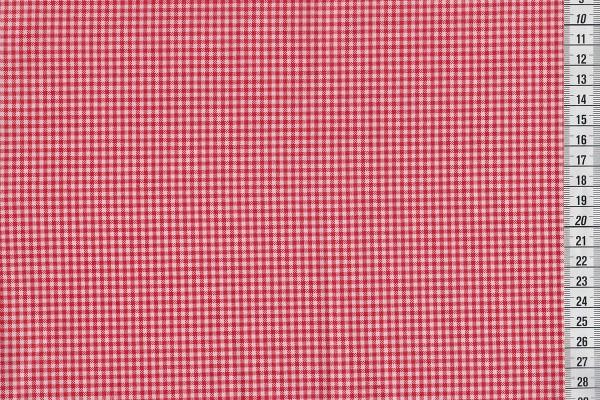 Westfalenstoffe Pompadour Vichykaro rot/weiß