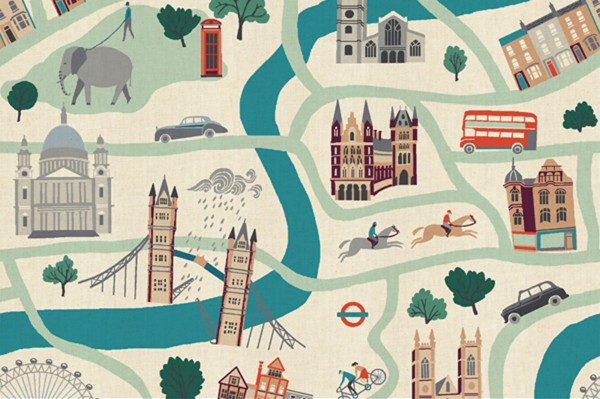 London Town by Sara Mulvanny London Forever White