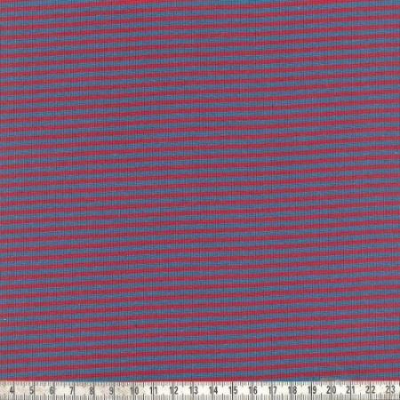 Ringelbündchen blau/rot