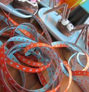 Sternchenband orange türkis