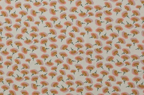 Blossom by brinarina Jersey Blüten creme