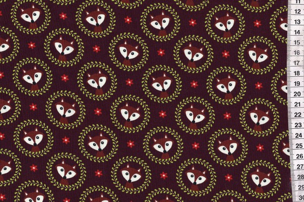 Jersey Digitalprint Fox Ornament bordeaux