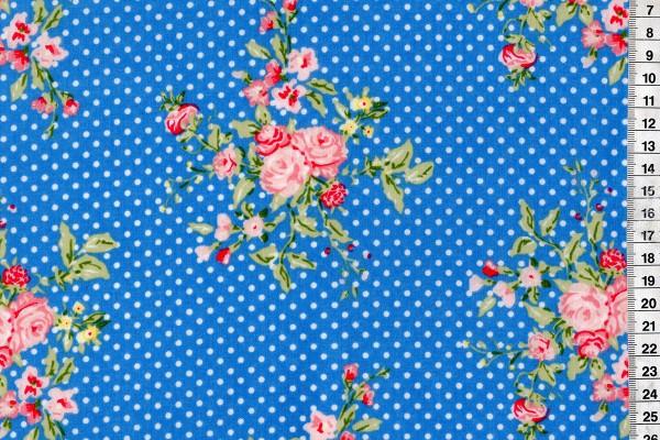 Wachstuch Flora French Blue