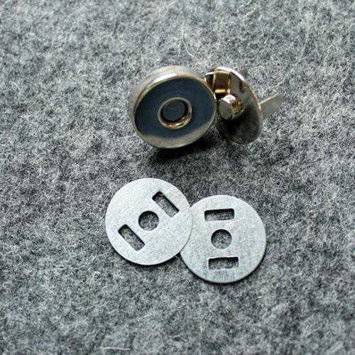 Magnetverschluss 18 mm silberfarben