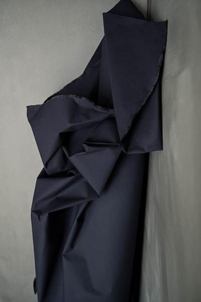 Gewachste Baumwolle (Dry Oilskin) dark indigo
