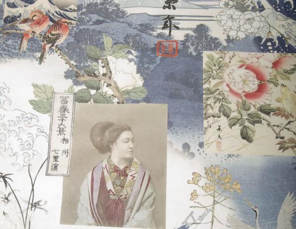bedruckter Dekostoff Japanese Elegance