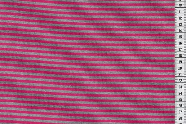 Ringelbündchen pink/graumeliert