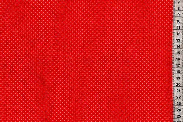 Baumwolldruck Pünktchen rot/weiß