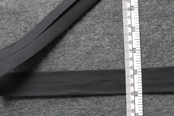 Schrägband gefalzt 30 mm schwarz