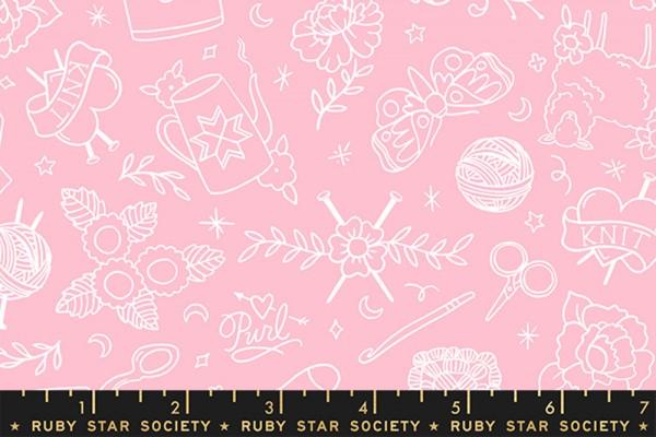 Ruby Star Society Purl by Sarah Watts Yarn Flash Posy