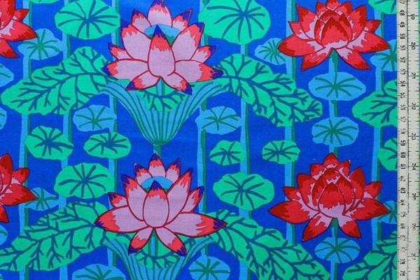Kaffe Fassett lotus stripe blue