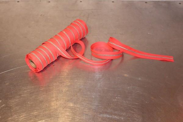 Reißverschluss metallisiert neonpink/silber