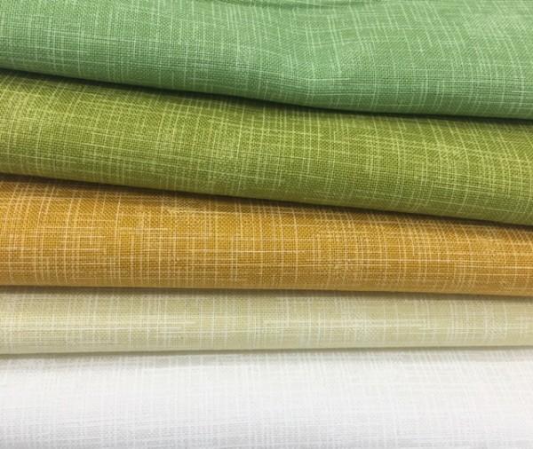 Fat Quarter Set Quilter's Linen grün
