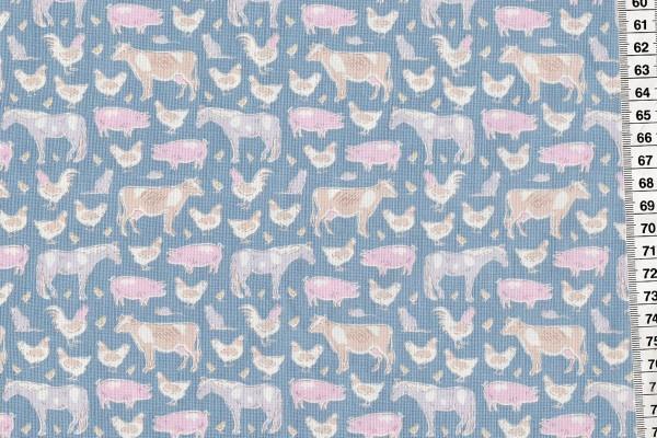 Tilda Tiny Farm Animals Blue