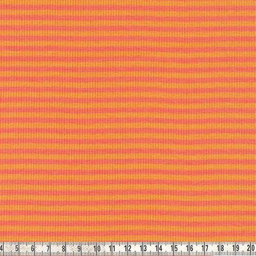 Ringelbündchen orange/lachs