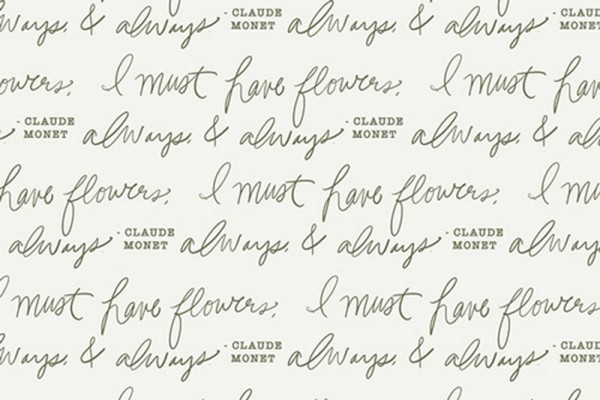 Bonnie Christine Gathered Schriftzug